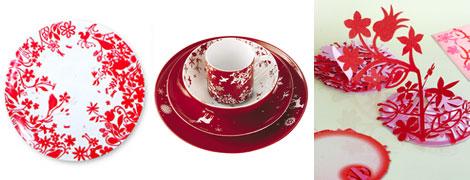 赤いテーブルウェア@オーセンティックスとアークテクニカのFairy Tail