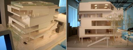 GYRE(ジャイル)の模型。デザインはMVRDV。