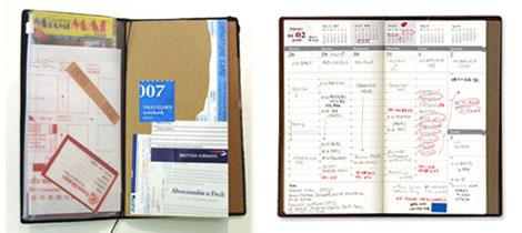 手帳としても使えるトラベラーズノート