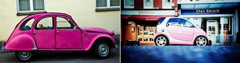 ダイムラークライスラー・スマートのピンク色