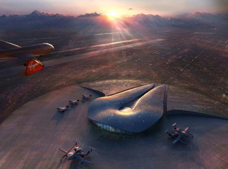 近未来的なフォルムの空港