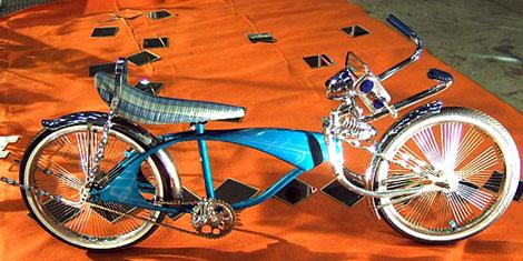 スタイリッシュ風な青い自転車