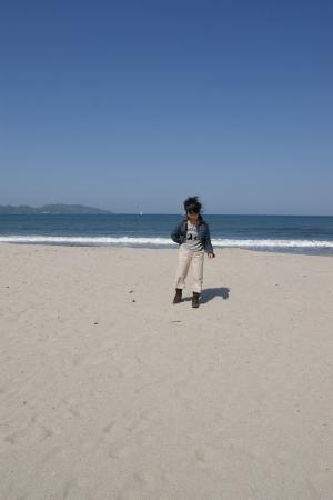 瀬戸内海にはない真っ白な砂浜