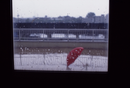 やっと見つけた赤い傘