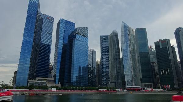 シンガポール高層ビル群