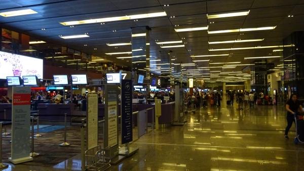 チャンギ空港カウンター