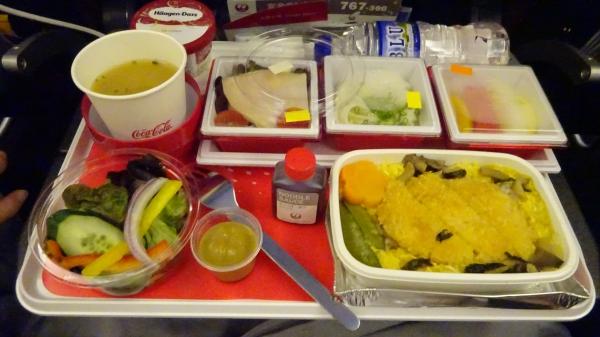 JAL712 機内食