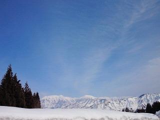白銀の雪山
