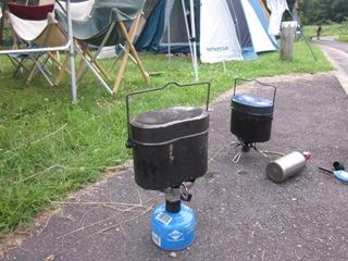 キャンプ炊飯炊き
