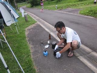 笹ヶ峰キャンプ炊飯