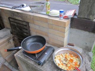 カレーの炒め物