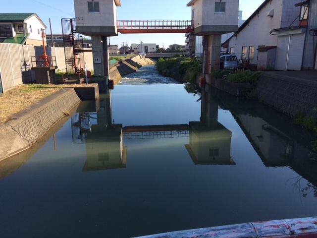 増水の儀明川