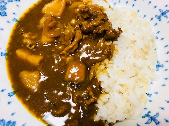 麦飯カレー