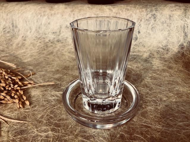 受け皿付酒グラス