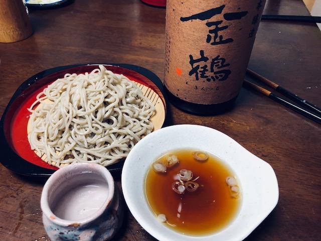 蕎麦と金鶴