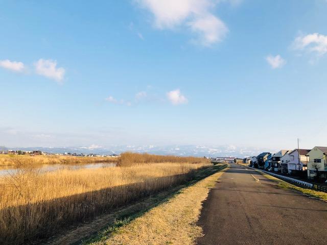 関川沿いウオーキング