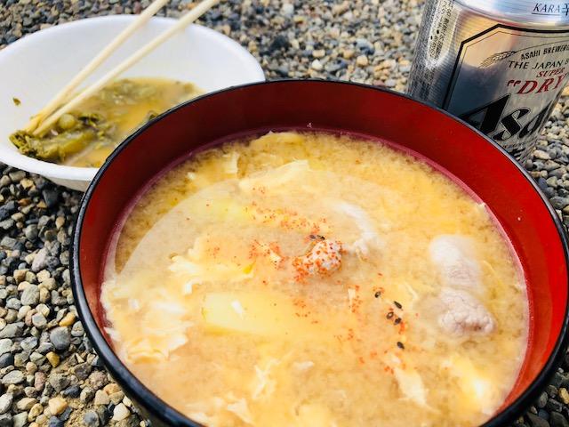 竹の子の味噌汁