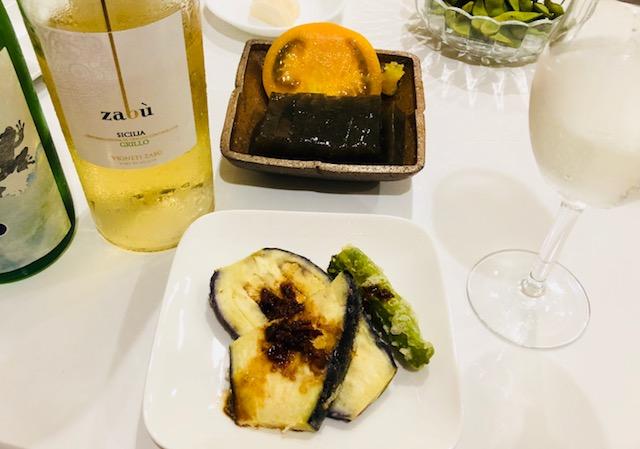 茄子の天ぷらスペシャルソース