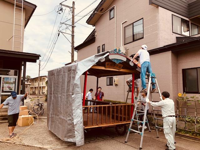 栄町屋台作り