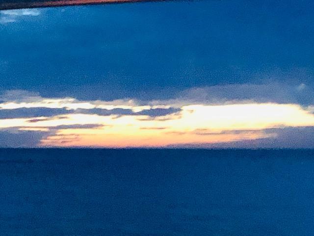 能生の夕日