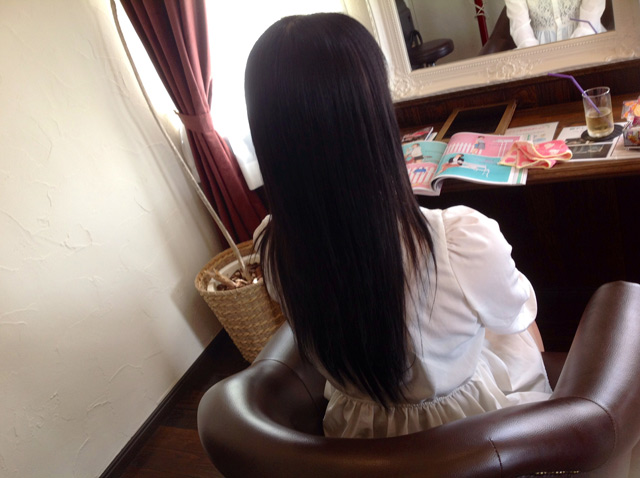 前髪ストレート