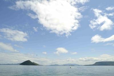 鬼ヶ島と屋島とボートポツン