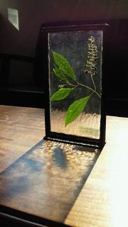 押し花のステンドグラス