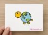 ポストカード「地球亀」