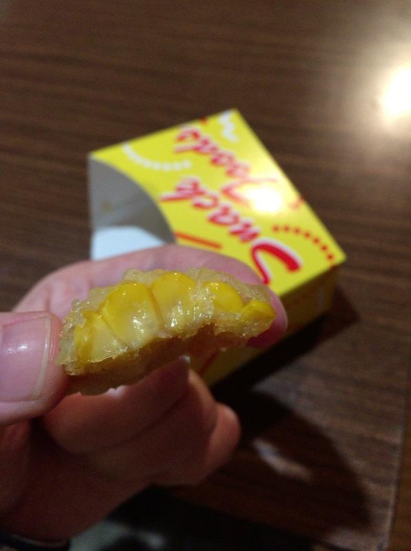 2016年弘前さくらまつりでの嶽きみ天ぷら