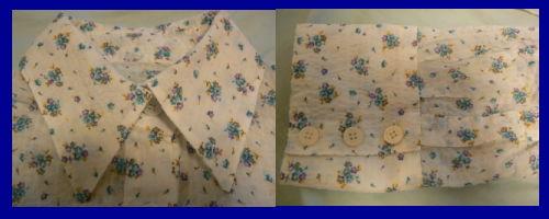 シャツの衿と袖