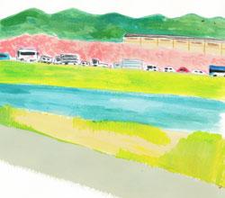 嵐山 桜の季節の渋滞
