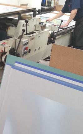 ポスターを描く 印刷風景