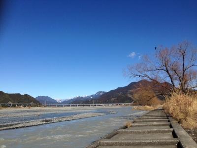 2014年2月の河原