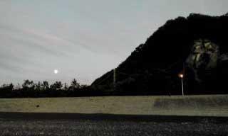 花の窟/月の入り