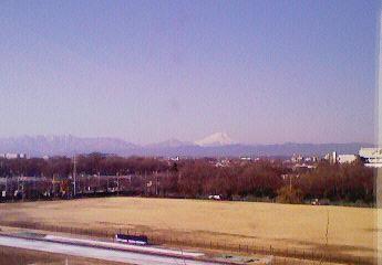 寮からの富士山
