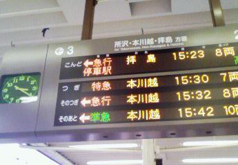 電車の表示版