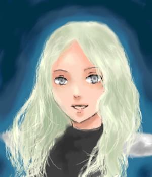 テレサ・・・のつもりで描きました