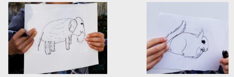 渋谷区広尾の慶應幼稚舎受験(絵画教室)・恵比寿駅の生徒様。動物絵画