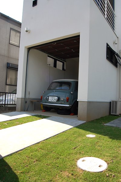 ガレージ外溝