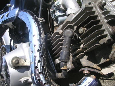 CL50のエンジン。現在、JUNの「日本一周レプリカ80ccキット」を組んでボアアップ済み。