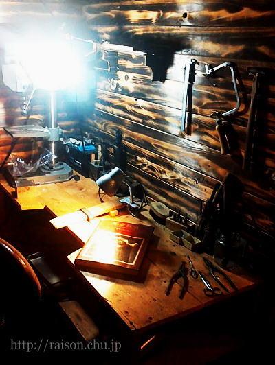 彫金教室。