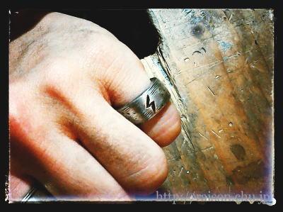 生徒作品、稲妻のリング。