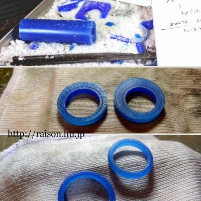 結婚指輪制作中。