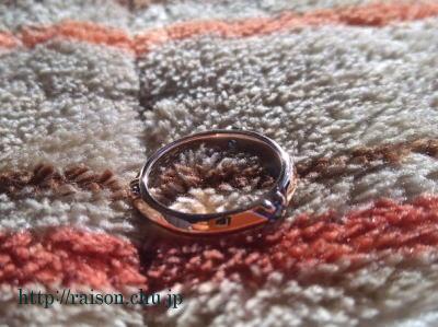 指輪の亀裂を直しました。