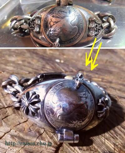 時計、ケース、シルバー、クロス。