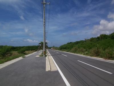 目の前の県道