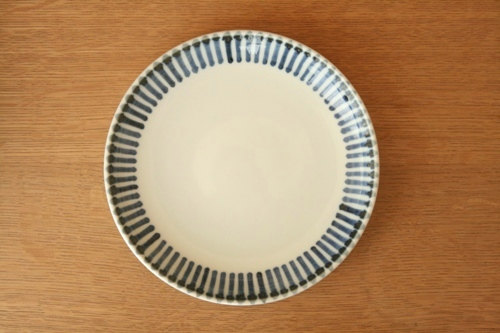 砥部焼・梅山窯:六寸切立丸皿