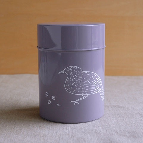 コーヒー保存缶 松尾ミユキ グレー