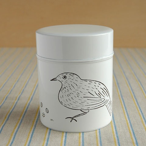 コーヒー保存缶 松尾ミユキ ホワイト