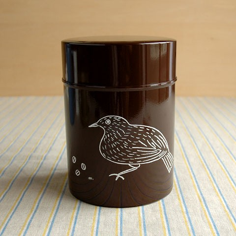 コーヒー保存缶 松尾ミユキ ブラウン